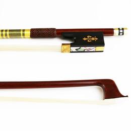 Natural Violin Canada - Free Shipping NEW 4 4 Advanced Pernambuco Violin Bow Natural Horsehair Round Stick Violin Parts Accessories
