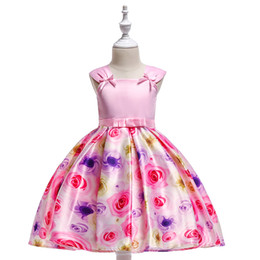 $enCountryForm.capitalKeyWord UK - Printed dress for children A pink bow The skirt with shoulder-straps The rose flower Princess dress best price high quality workmanship
