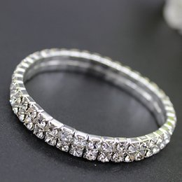 mode diamant brautarmbänder designer Luxus Kristall brautschmuck armbänder für frauen Günstige hochzeit zubehör wasser bohrer armreif