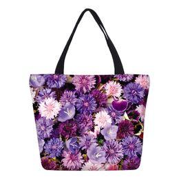 $enCountryForm.capitalKeyWord UK - VEEVANV Women large summer romantic Flower Printing Handbags Canvas Shoulder Beach Bags Lady Tablets Clutch Totes Shopping Bag