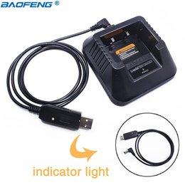baofeng cable 2019 - Baofeng UV-5R USB Cable Charger (9-10.8V) with Indicator Light For Baofeng UV-5R UV-5RE DM-5R Plus Walkie Talkie UV 5R d