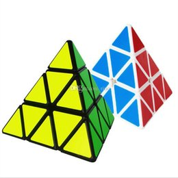 kids toy cube UK - Pyramid Shape Magic Cube Ultra-smooth Speed Magico Cubo Twist Puzzle DIY Educational Toy for Children Kids 60PCS