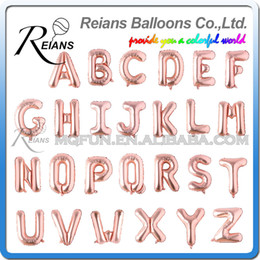 happy birthday letters online shopping wholesales rose gold happy birthday balloons foil letter ballons wedding