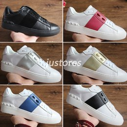 pink shoes studs 2019 - With Box Cheap TOP Luxury Brand Untitled Studs Open Sneaker Casual Shoe Fashion Luxury Shoe Men And Women Designer Shoe