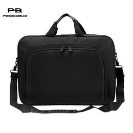 simple men bags 2019 - Business Portable Nylon Computer Handbags Zipper Shoulder Laptop Simple Bag cheap simple men bags