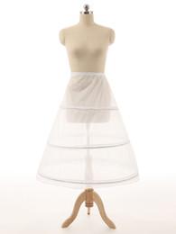 Venta caliente barata Enaguas Vestido de bola de la boda Bola 3 Aro Hueso Crinolina completa Enaguas para el vestido de boda Falda de la boda Accesorios Resbalón
