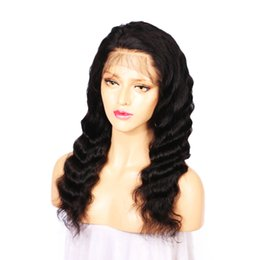 Smooth Soft Hair UK - 2018 100% shine soft best aaaaaaa beauty smooth unprocessed remy virgin human hair natural color long deep wave full lace wig for women