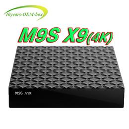 Ott Tv Canada - Rockchip RK3229 M9S X9 Android Box Quad Core Android 6.0 OTT TV Box 1gb 8gb 2G 16G Bluetooth WiFi HDMI 4K Internet TV BOX