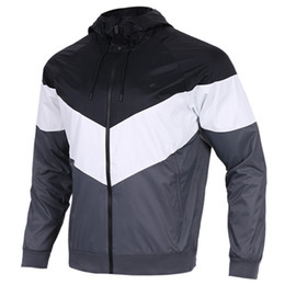 Chinese  2018 NEW style Men Women Sports Windbreaker Jackets 3 Colors Patchwork Contract Waterproof Jacket Zippers Up Coats free shipping 397 manufacturers