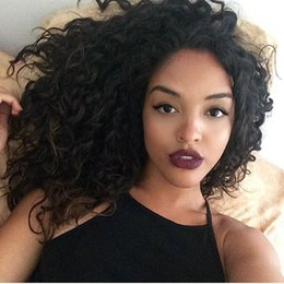 Black Women Burgundy Human Hair Wigs Australia - Full Lace Wigs For Black Women Deep Wave Unprocessed Human Hair With Baby Hair Lace Front Wigs