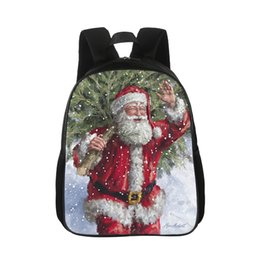 China Custom Print Men's and Women's Backpacks Christmas Day Pattern Santa Backpack Backpack Children's Bag Cartoon Casual supplier christmas santa backpack suppliers