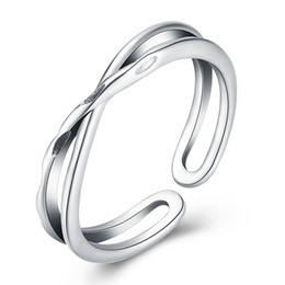 $enCountryForm.capitalKeyWord NZ - best wedding ring Fashion anniversary S925 simple parallel cross shedding plain silver sterling silver ring for girlfrend gift