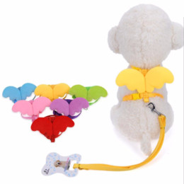 Leads for dogs online shopping - Cute Angel Pet Dog Leashes and Collars Set Puppy Leads for Small Dogs Cats Designer Wing Adjustable Dog Harness Pet Accessories