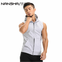 $enCountryForm.capitalKeyWord Australia - Hot 2017 Mens Cotton Hoodie Sweatshirts fitness clothes bodybuilding tank top men Sleeveless Trend Tees Shirt Casual golds vest