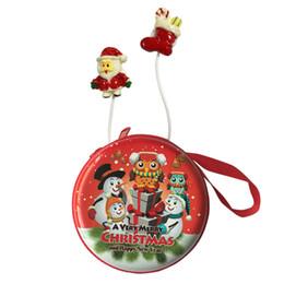 $enCountryForm.capitalKeyWord UK - Christmas Santa Claus Reindeer Earphones Wired Headphone Cartoon In-ear Stereo Earbuds For Smartphone mp3 Kids Christmas Gifts
