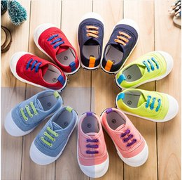Korean Baby Shoes Canada - 2017 Korean spring tide shoes children shoes, canvas shoes, baby girls and boys shoes shoes for children aged 1-3 years