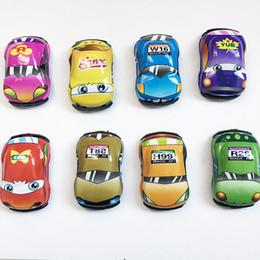 Free Models Cute NZ - Children Gift Car Model Mini Car Creative Cute Q Edition Sliding Mini Toys DHL free shipping