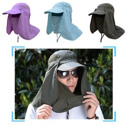 dc968dc46adc8 Fishing Hat 360°UV Protection Sun Hat Cover Face Summer Sun Visor Cap  Folding Removable Neck Face Mask For Outdoor Activities Free DHL G801R