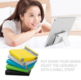 adjustable support tablet 2019 - Universtal Portable Plastic Tablet PC Stand Holder Rotate Support Bracket trestle For iPad 2 3 4 Air Mobile Phone