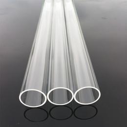 $enCountryForm.capitalKeyWord Australia - High Clear Industrial And Scientific Quartz Tubes Length 300mm Diameter 21mm Thickness 1mm Heat Resistant Quartz Glass Tube Quartz Pipe Tube