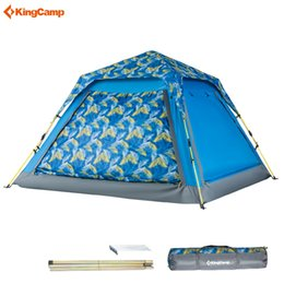 $enCountryForm.capitalKeyWord NZ - Kingcamp Double Layer Camping Tents 3-4 Person Quick-up Waterproof Ultralight Breathable Outdoor Family Tent for 4 Season Carpa