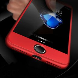 Iphone Glasses Red Australia - 360 Degree Cases For iPhone Xs XsMax Xr X 7 6S 8 Plus case With Tempered Glass Red Full Cover