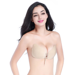 Chinese  Women Sexy Invisible Bra Super Push Up Seamless Self-Adhesive Sticky Wedding Party Front Strapless A B C D Cup Fly Bra manufacturers