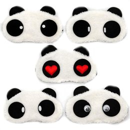 $enCountryForm.capitalKeyWord UK - New Cute Face White Panda Eye mask Eyeshade Shading Sleep Cotton Goggles Eye mask sleep mask Eye Cover health Care