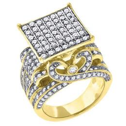 64fbb20b33c Projetos do anel de ouro da flor para mulheres on-line-Grande Cubic Zirconia