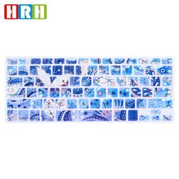 "Macbook Air Skins 13 Canada - Beautiful Paisley Flower Silicone Keyboard Skin Cover for Macbook Air Pro Retina Display 13"" 15"" 17"" English Keyboard Protector"