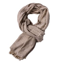 65088a04efe57 Winter Men Classic Shawl Fringe Solid Color Tassel Long Soft Warm Scarf  snood for women Women's winter scarf sale items