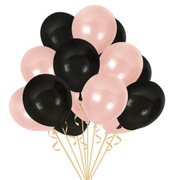 Wholesale 100PCS Inch Ins Online Popular Black Golden Latex Balloon for Weddings Festivals Decoration Rose Gold Balloon