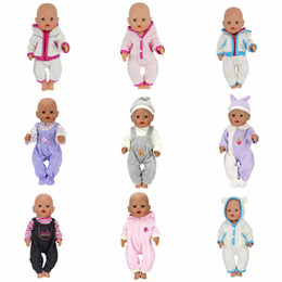 Jump Suits NZ - Doll Jump Suits Fit For 43cm Baby Born Zapf Doll Reborn Baby Clothes And 17inch Doll Accessories