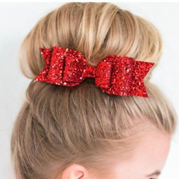 $enCountryForm.capitalKeyWord Australia - Shiny Sequins Big Bowknot Barrette 10pc Hairpin Hair Clip Lady Girl Style Accessories Twinkle Paillette Hairgrip Fashion Headwear
