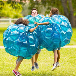 pvc footballs Canada - Bubble Football 3ft Inflatable Zorb Ball Soccer Suit PVC Quality Guaranteed 90cm for Children Outdoor Free Shipping