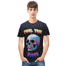 t shirt flower hip hop UK - 18 styles America Fashion Hip Hop T shirt for men summer tops 3d t-shirt print skulls flowers tees shirts Plus Size S-3XL