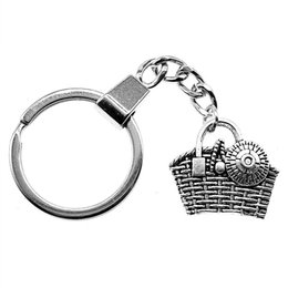 Discount handbag anchor 6 Pieces Key Chain Women Key Rings Fashion Keychains For Men Handbag 25x22mm