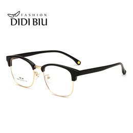 5515de6e6208 half frame titanium eyewear 2018 - DIDI Retro Tr90 Transparent Eyeglasses  For Women Mens Optical Glasses
