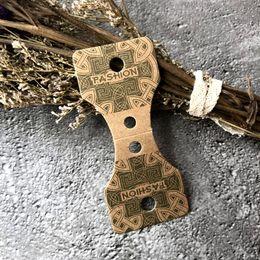 Custom Logo Pendants NZ - Supply Small Kraft Folded Necklace Pendant Display Paper Card Custom Logo For Jewelry Accessory Display Card