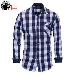$enCountryForm.capitalKeyWord Canada - Mens Dress Shirts Plaid Collar Shirt Social Male Long Sleeved European Size 100% Cotton Lapel Shirt Casual Washed Mens Shirts