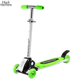 Alloy and steel Kick scooters Foot Scooters Children Scooter Adjustable Foldiabke Kickboard 3 Wheels Skateboard for Kids
