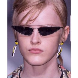 413440c1f8 2018 Brand Designer Cat Eye Sun Glasses For Women Vintage Ladies Clear Sunglasses  Small Frame Fashion Cateye Female Shades