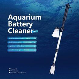 Wholesale Aquarium Battery Syphon Auto Fish Tank Vacuum Gravel Water Filter Washer Cleaner