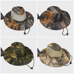 556a5626599 Summer Jungle Outdoor Hats Sunscreen Creative Fisherman Leaf Cap Camouflage  Flexible Tactical Boonie Caps For Mens Portable 4 6hs jj