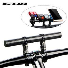Discount computers mtb - Carbon Fiber Bike Bicycle HandleBar Extender Lengthen Mount Lamp CNC Lightweight MTB Computer Phone Holder G202
