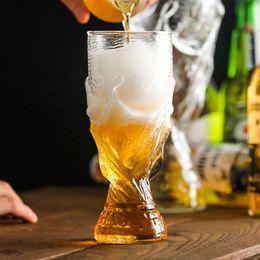 Vente en gros Football Coupe Du Monde De Football Bière Stein Whiskey Vodka Bar Tasse À Verre À Bière Cristal Whisky Verres À Vin Verres De Voiture Tasses 60pcs OOA5088