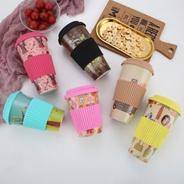 Environmental Protection Products NZ - Bamboo fiber coffee cup creative environmental protection belt silicone large medium and small capacity eco friendly cups products