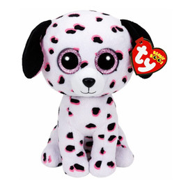 Pyoopeo Ty Beanie Boos 6 15cm Georgia The Dalmatian Plush Regular Stuffed Animal Dog Collection Soft Doll Toy With Heart Tag