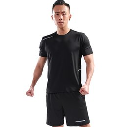 cotton spandex t shirt mens 2019 - MYLEY Mens Muscle T-shirt Bodybuilding Fitness Men Tops Quick Dry Slim Plus Big Size T-Shirt Cotton Short Sleeve M-4XL d