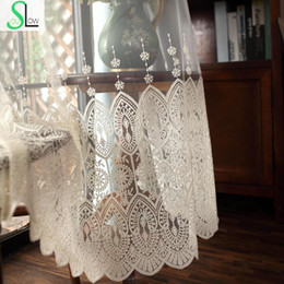 Luxury Window Cottons Australia - High grade Delicate Embroidery Tulle Curtains For Living Room Luxury Chinese Sheer Volie Window Curtain Cortinados De Sala
